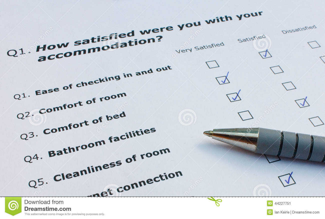 satisfaction questionnaire example