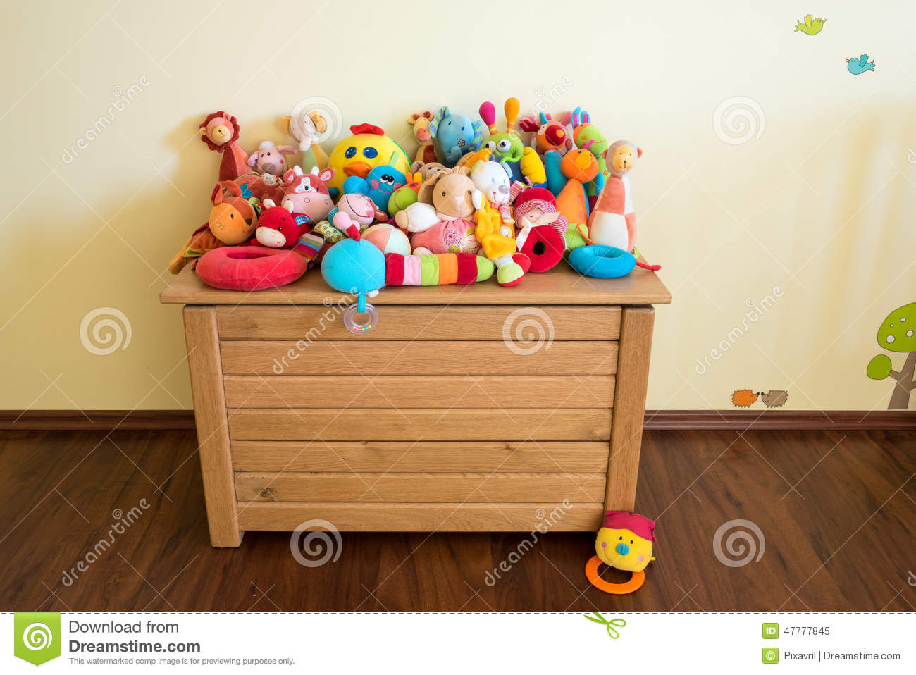 Toy Box Toys Toy Box Full Of Soft Toys Stock Image Image Of Adorable
