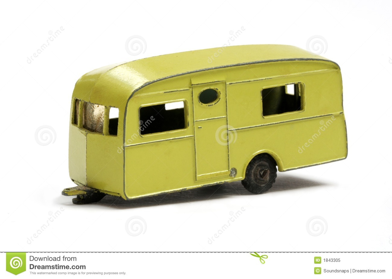 Caravana Retro Toy Model Caravan Royalty Free Stock Photo - Image: 1843305