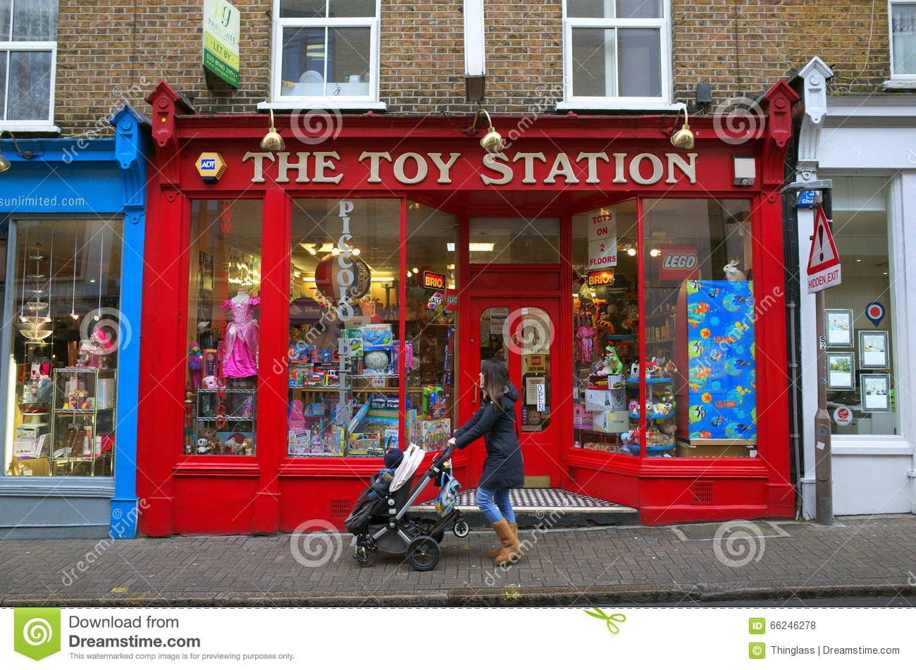 Child With A Pram Toy Store In London Editorial Stock Photo Image Of