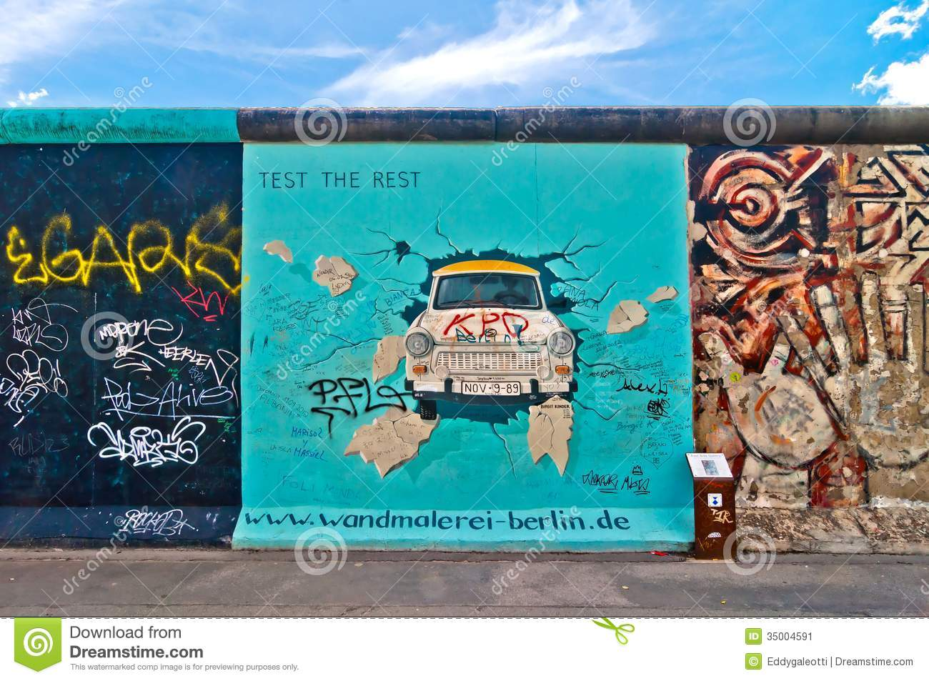 Outdoor Kinder Trabant Painting From Birgit Kinder On Berlin Wall In The East