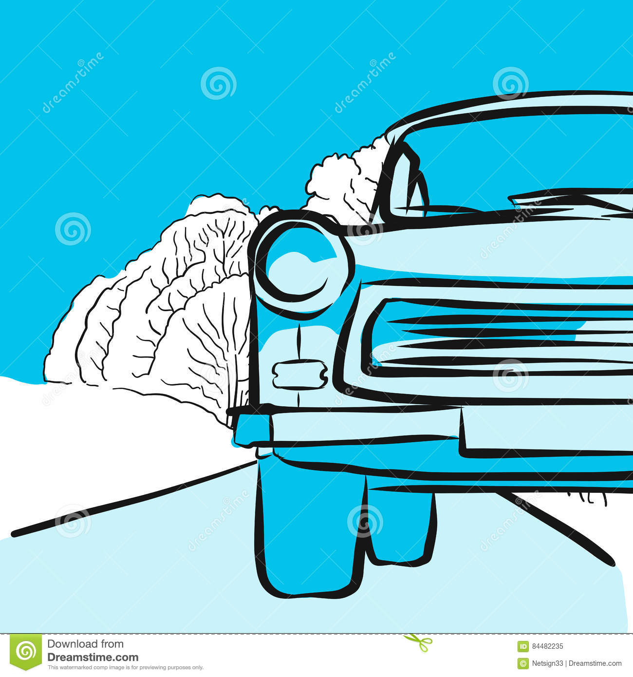Trabant Clipart Trabant In Winter On Icy Road Stock Vector Illustration Of