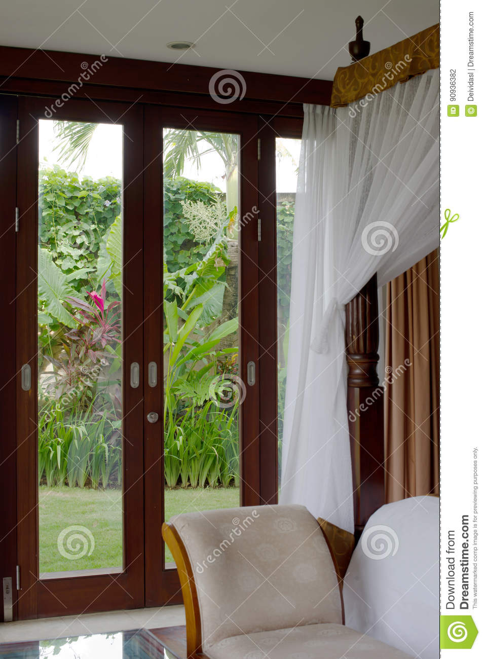 Meubles Ubud Bali Traditional And Antique Bedroom Villa Stock Photo Image Of