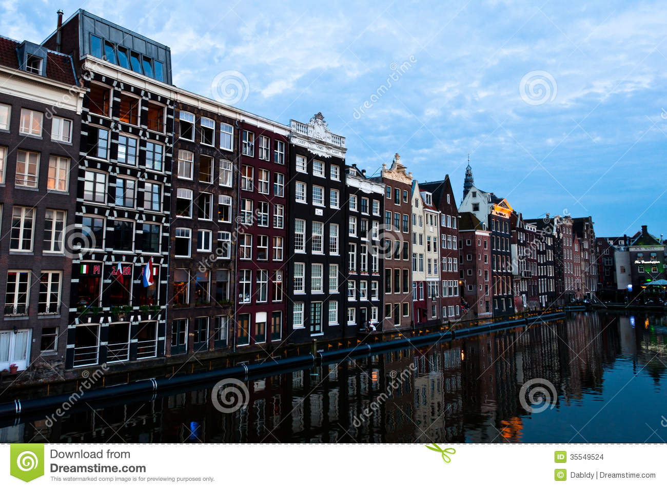 Dutch Dreams Traditional Dutch Architecture Houses Stock Photo - Image