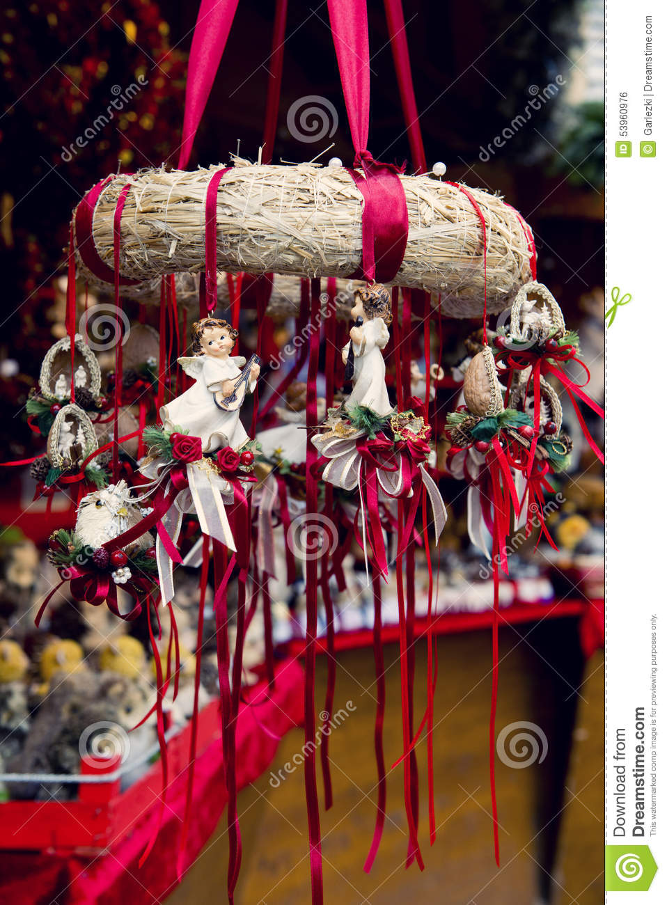 Traditional german christmas decorations stock photo