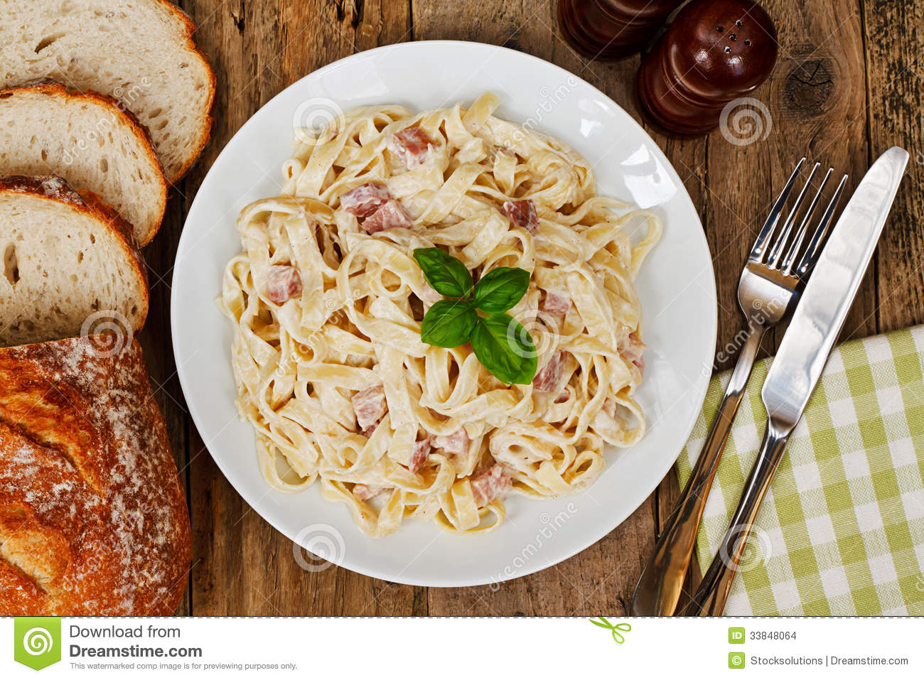 Plate With Food Top View Traditional Italian Food Stock Images Image 33848064