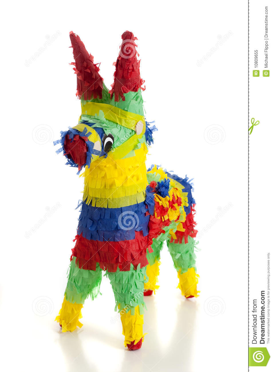 Birthday Party Background A Traditional Mexican Pinata On White Royalty Free Stock
