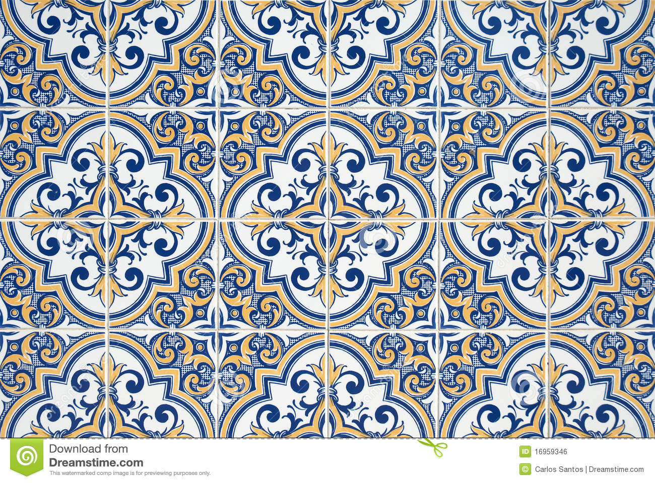 Azulejos Traditional Portuguese Azulejos Stock Photo Image 16959346