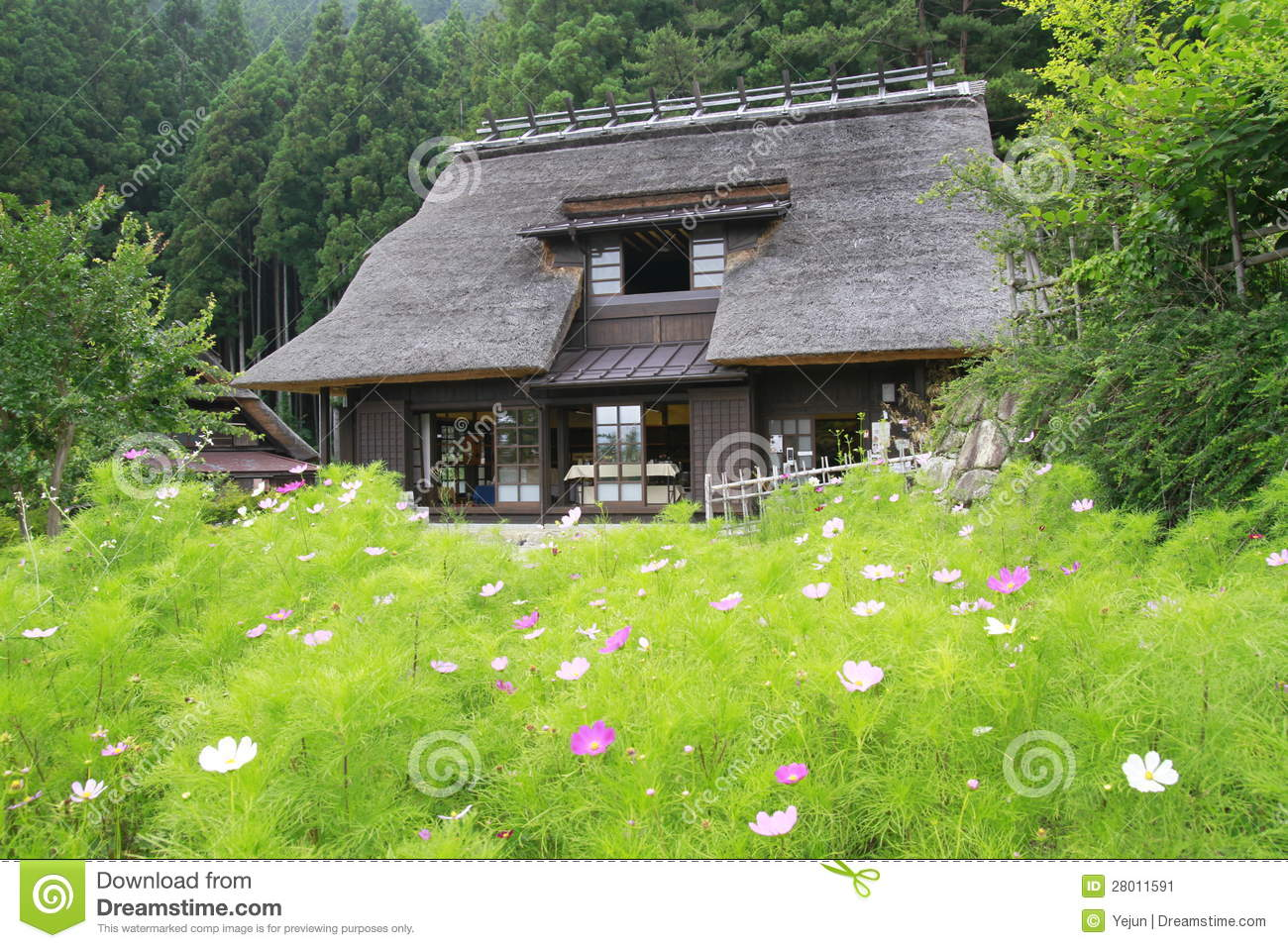 Clipart Images House Traditional Style Japanese Country House Stock Image