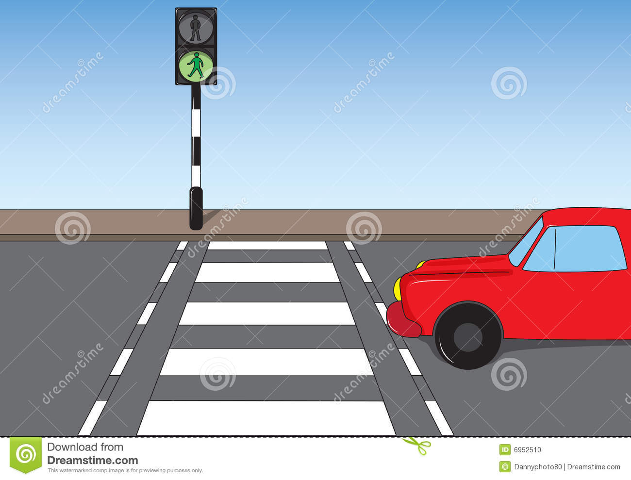 Road Crossing Clipart Traffic Scene Stock Photo Image 6952510