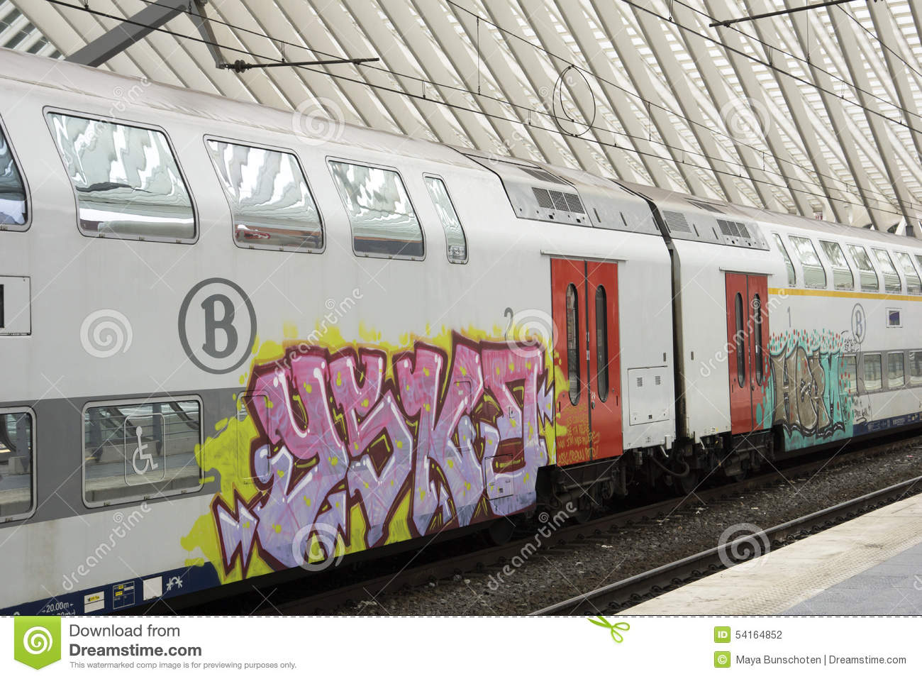 Liege Clipart Train With Graffiti Editorial Photography Image 54164852