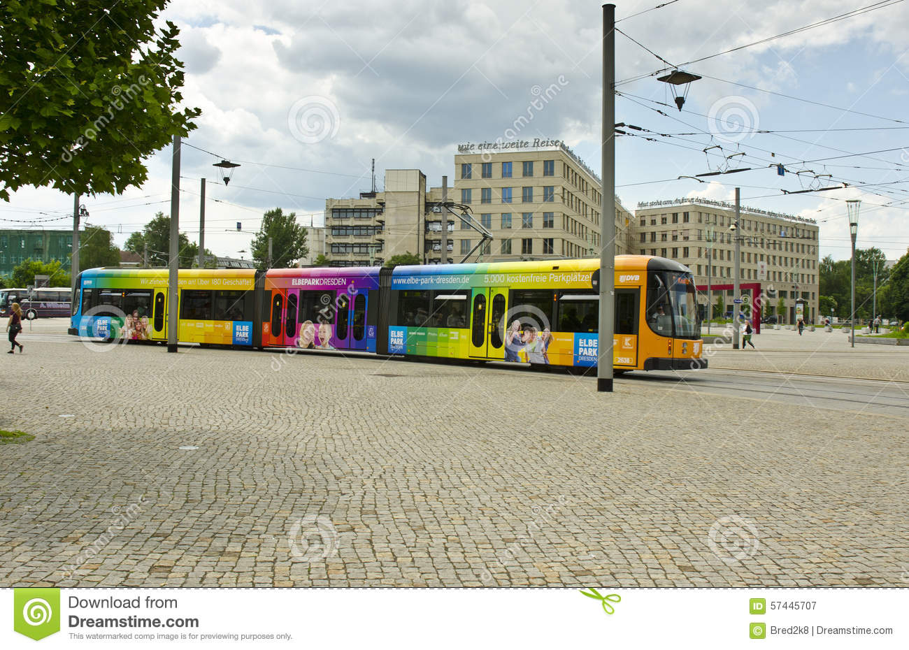 Elbepark Dresden Geschäfte Tram Dresden Germany Editorial Photography Image Of Urban