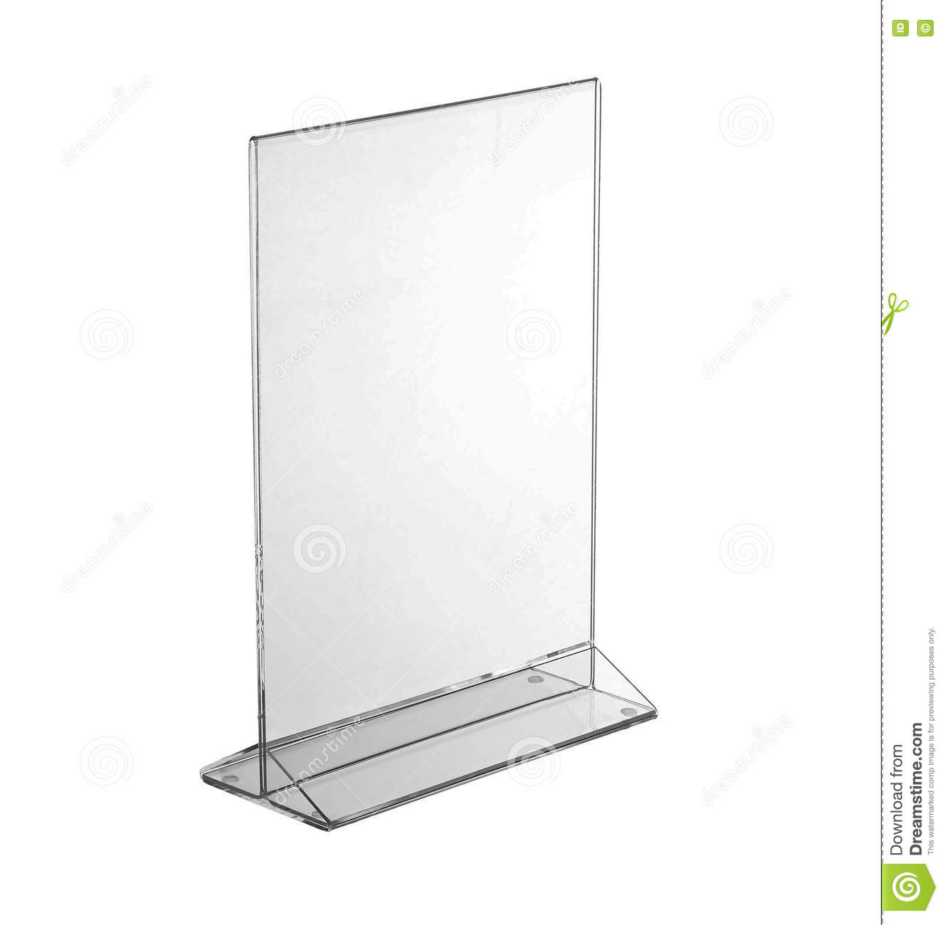 Table Transparente Plexiglass Transparent Acrylic Table Stand Display For Menu Isolated White