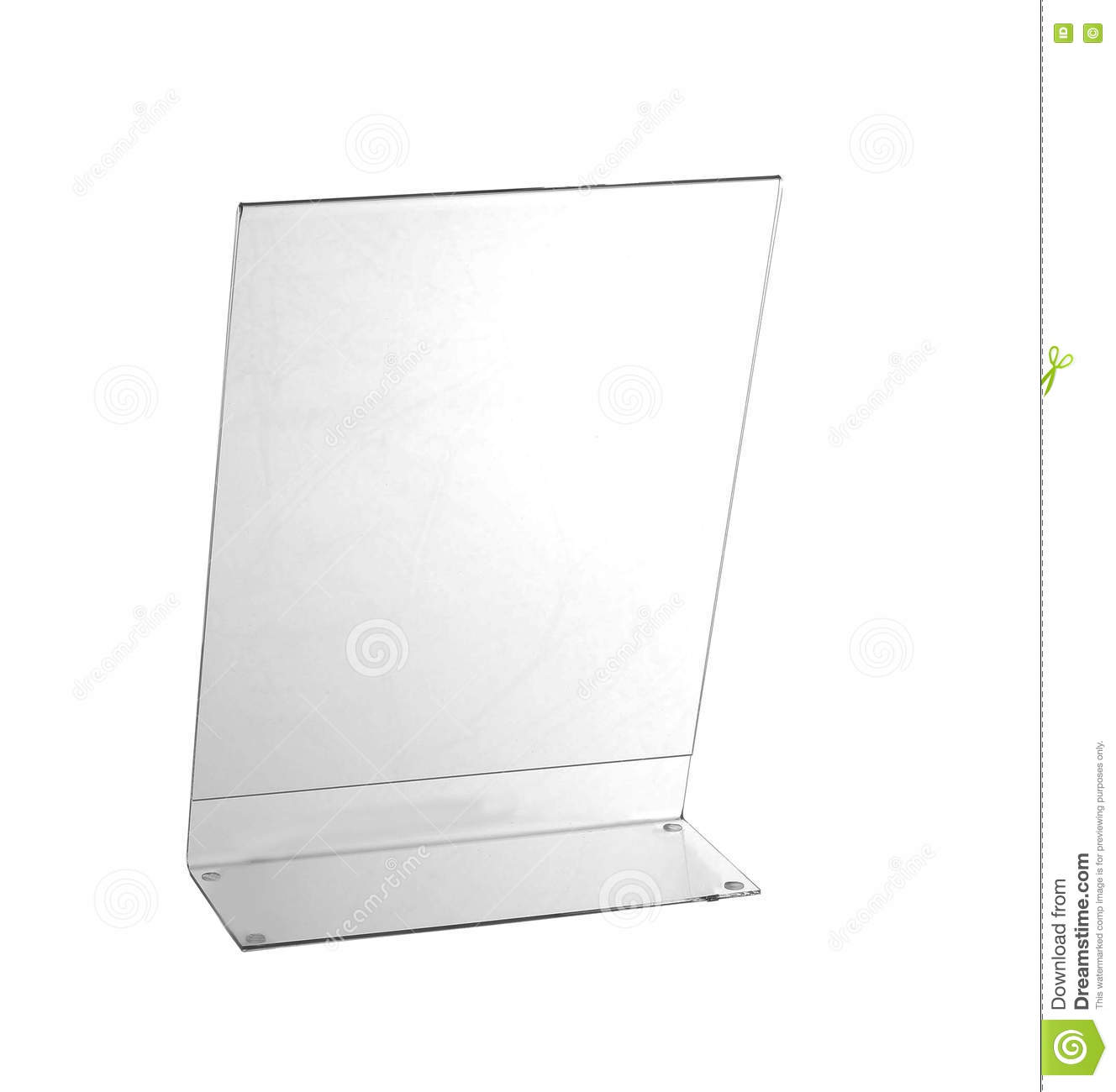 Table Plexiglas Transparent Transparent Acrylic Table Stand Display For Menu Isolated White