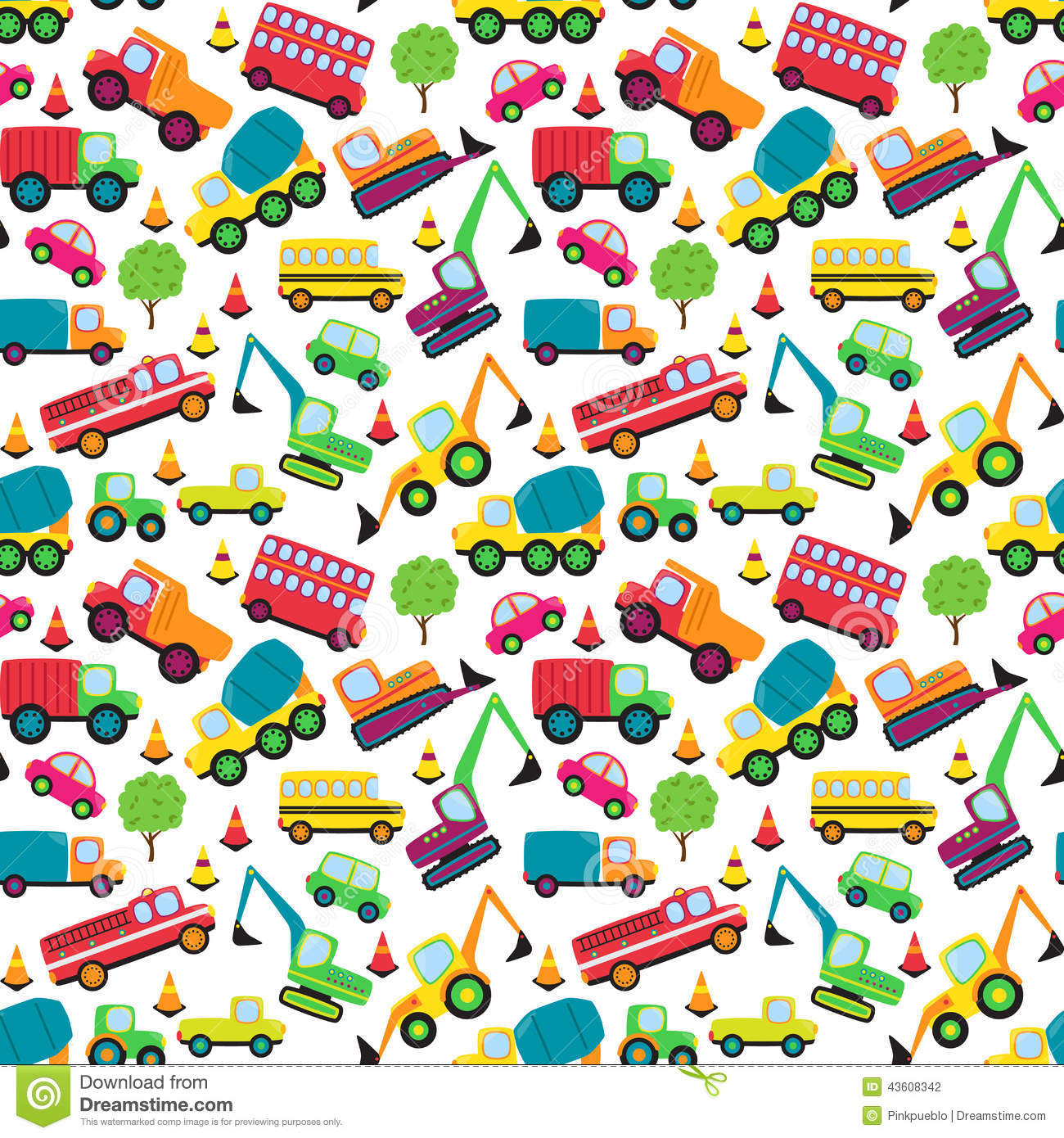Audio Car Wallpaper Download Transportation Themed Seamless Tileable Background Pattern