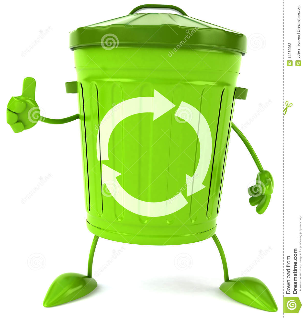 Fun Trash Can Trash Can Stock Illustration Illustration Of Rubbish 14379963