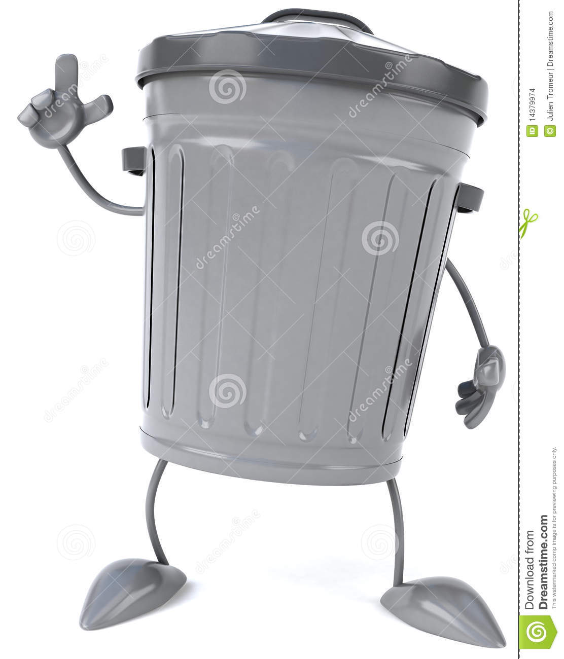 Fun Trash Can Trash Can Stock Illustration Illustration Of Bucket 14379974