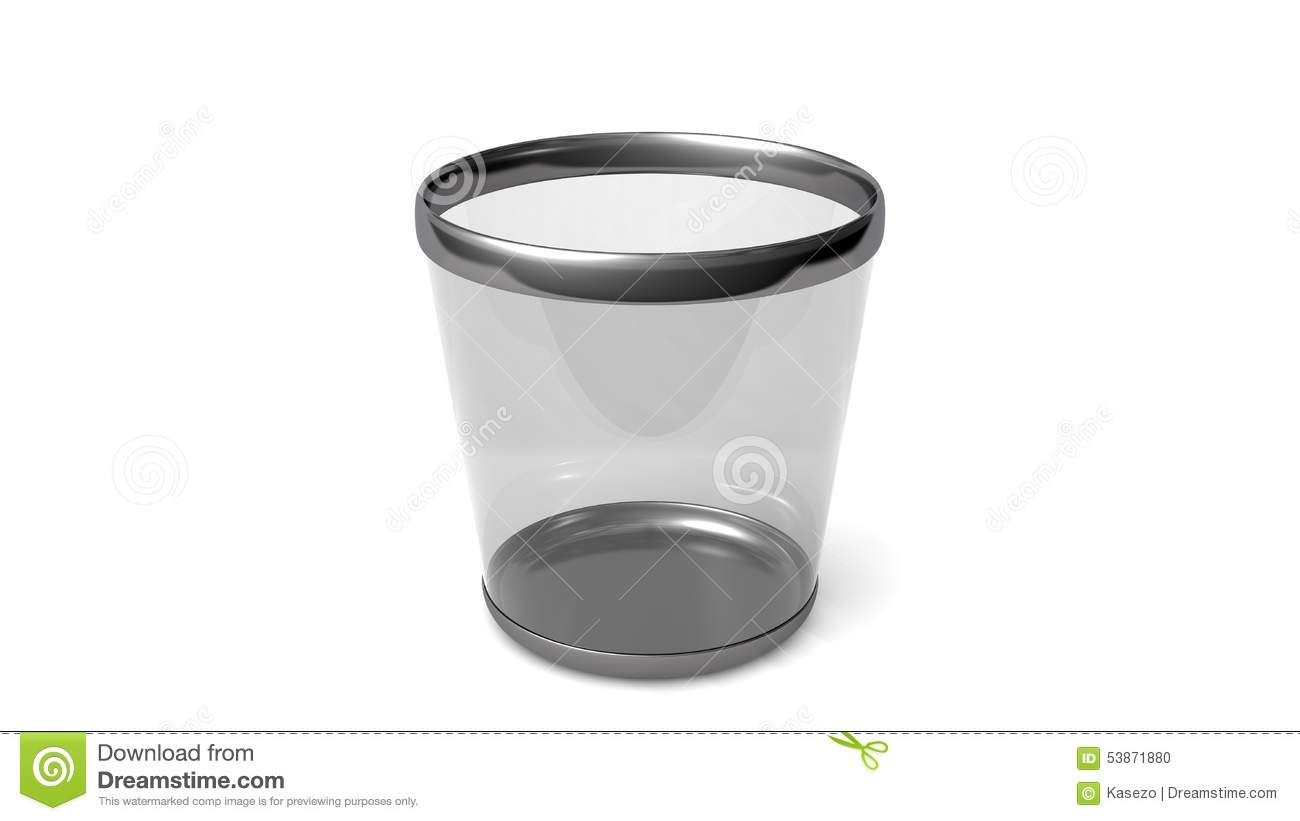 Elegant Trash Can Trash Can Stock Photo Image Of Reflection Glass Metal 53871880