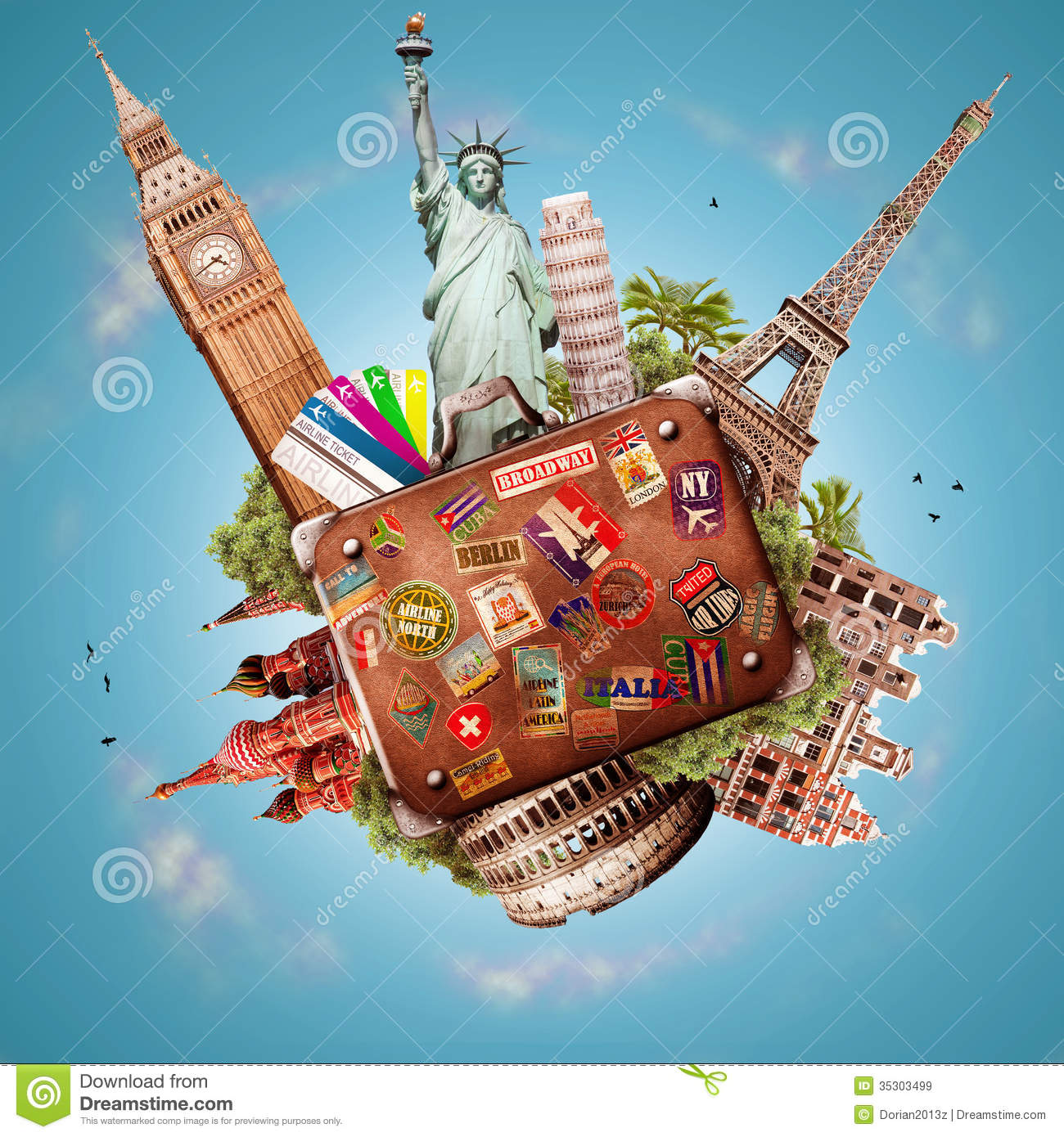 Trip Travel Travel Stock Image Image Of Suitcase Tourism Eiffel 35303499