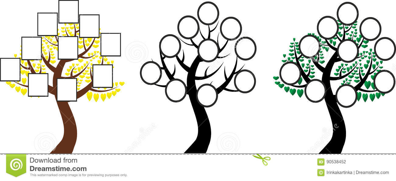 The Tree Of Life, Family Tree Stock Vector - Illustration of