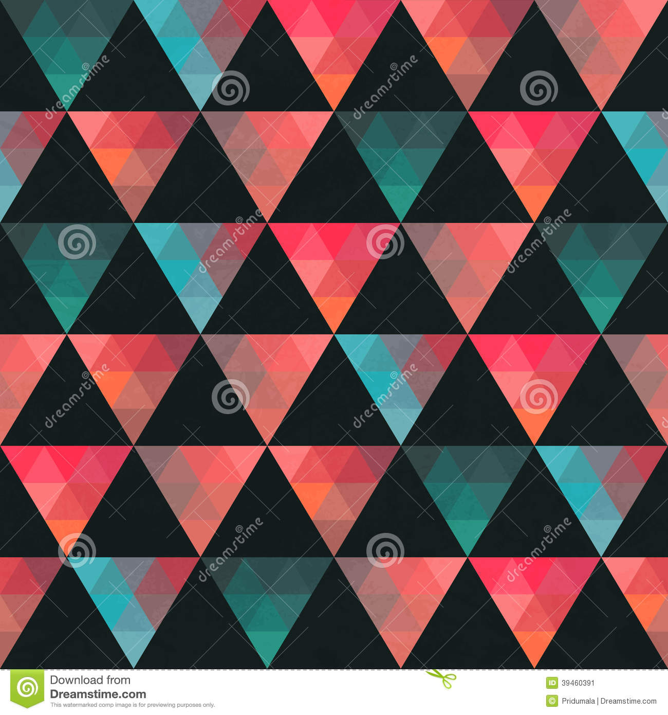 Triangles pattern of geometric shapes colorful mosaic