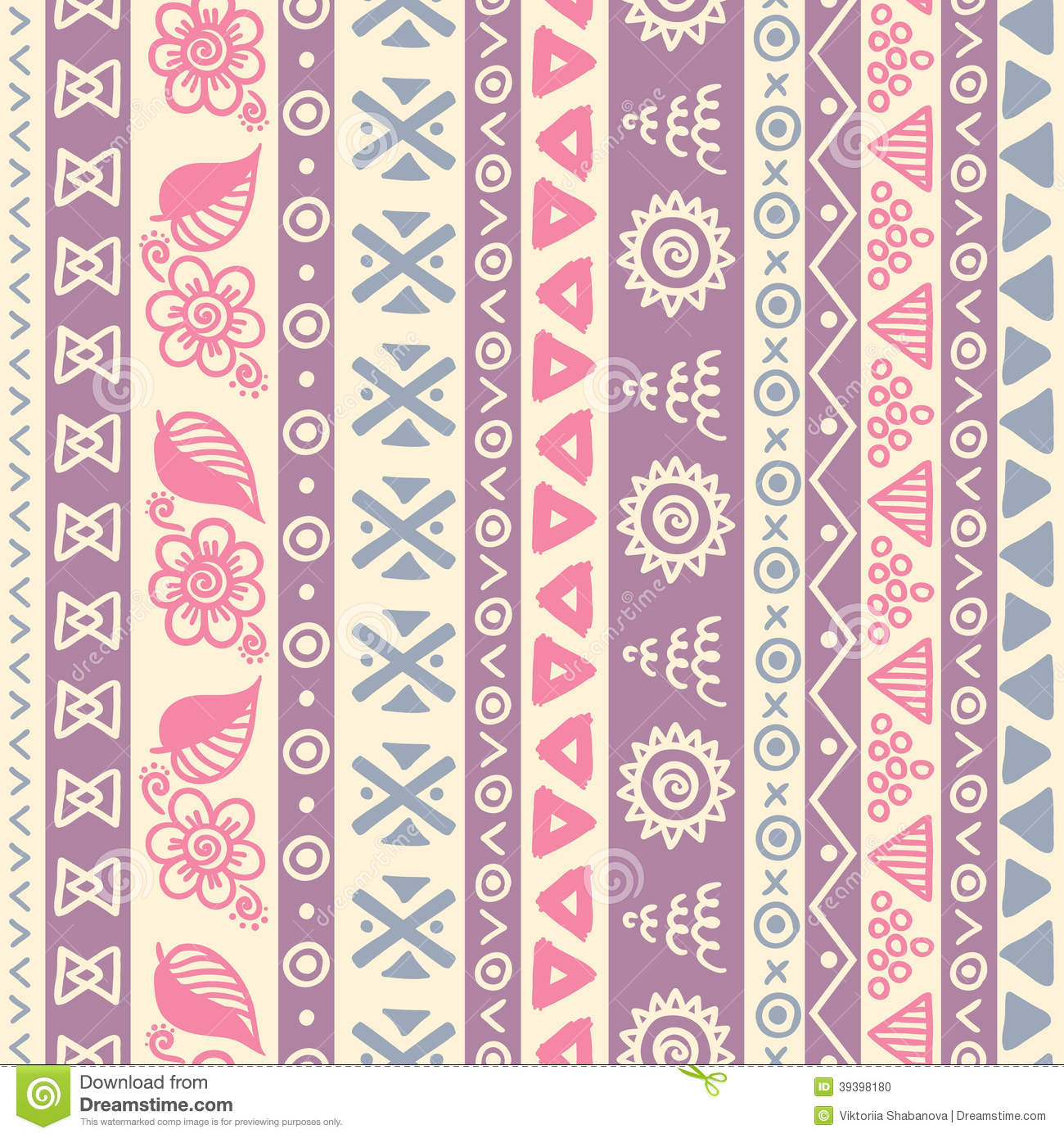 Cute Tribal Patterns Wallpaper Tribal Striped Seamless Pattern Stock Vector Image