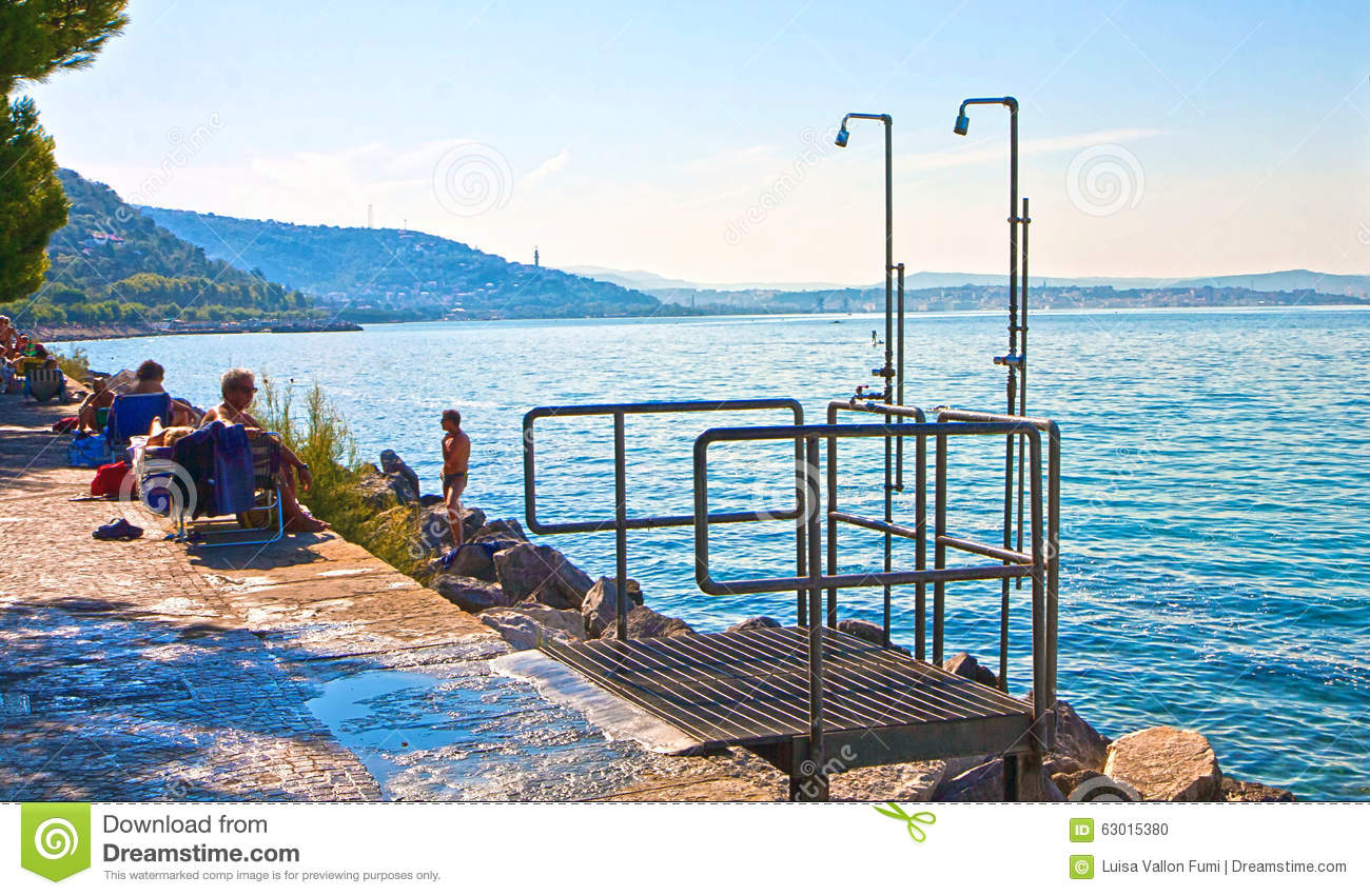Trieste Italy Beautiful View Of Barcola Free Beach