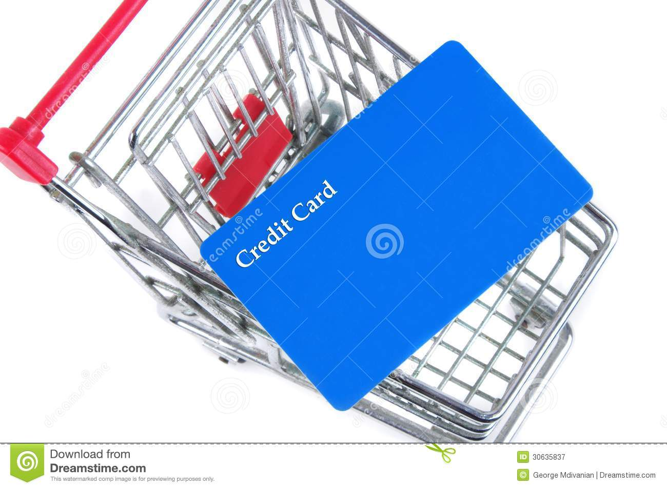 Stores Credit Card Trolley With Card Royalty Free Stock Photography Image