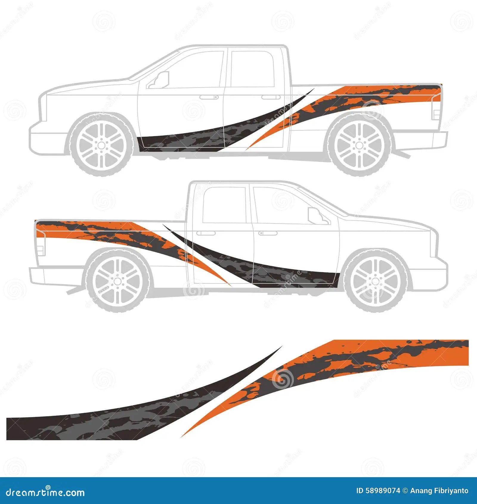 Car body sticker design eps -  Decal Design Graphic Truck Vehicle Download
