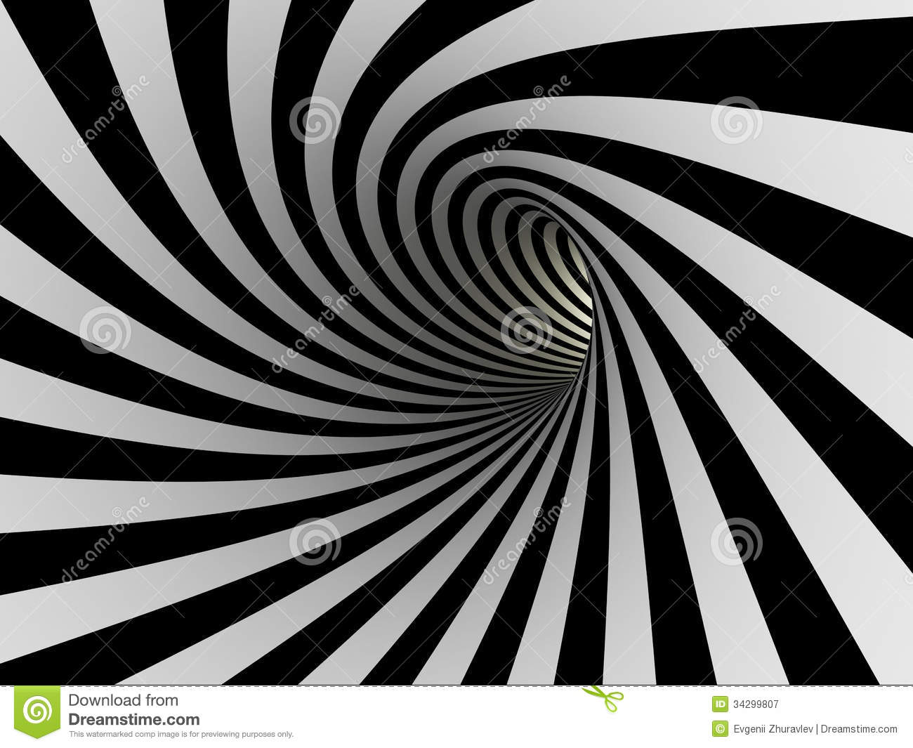 Line White Tunnel Of Black And White Lines Stock Illustration Image