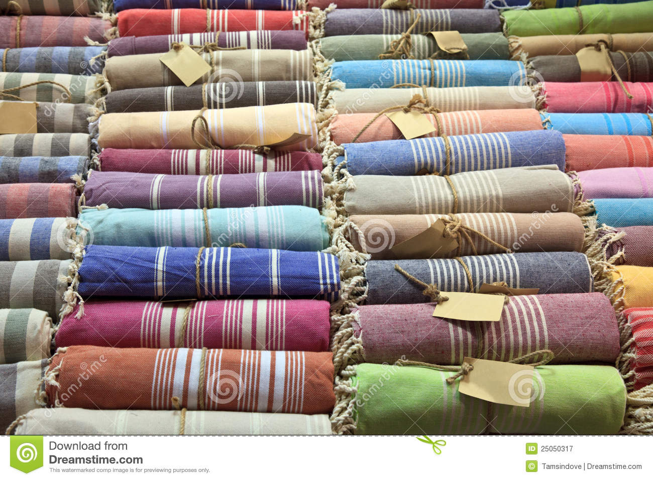 Bath Bazar Turkish Bath Robes Grand Bazaar Istanbul Royalty Free