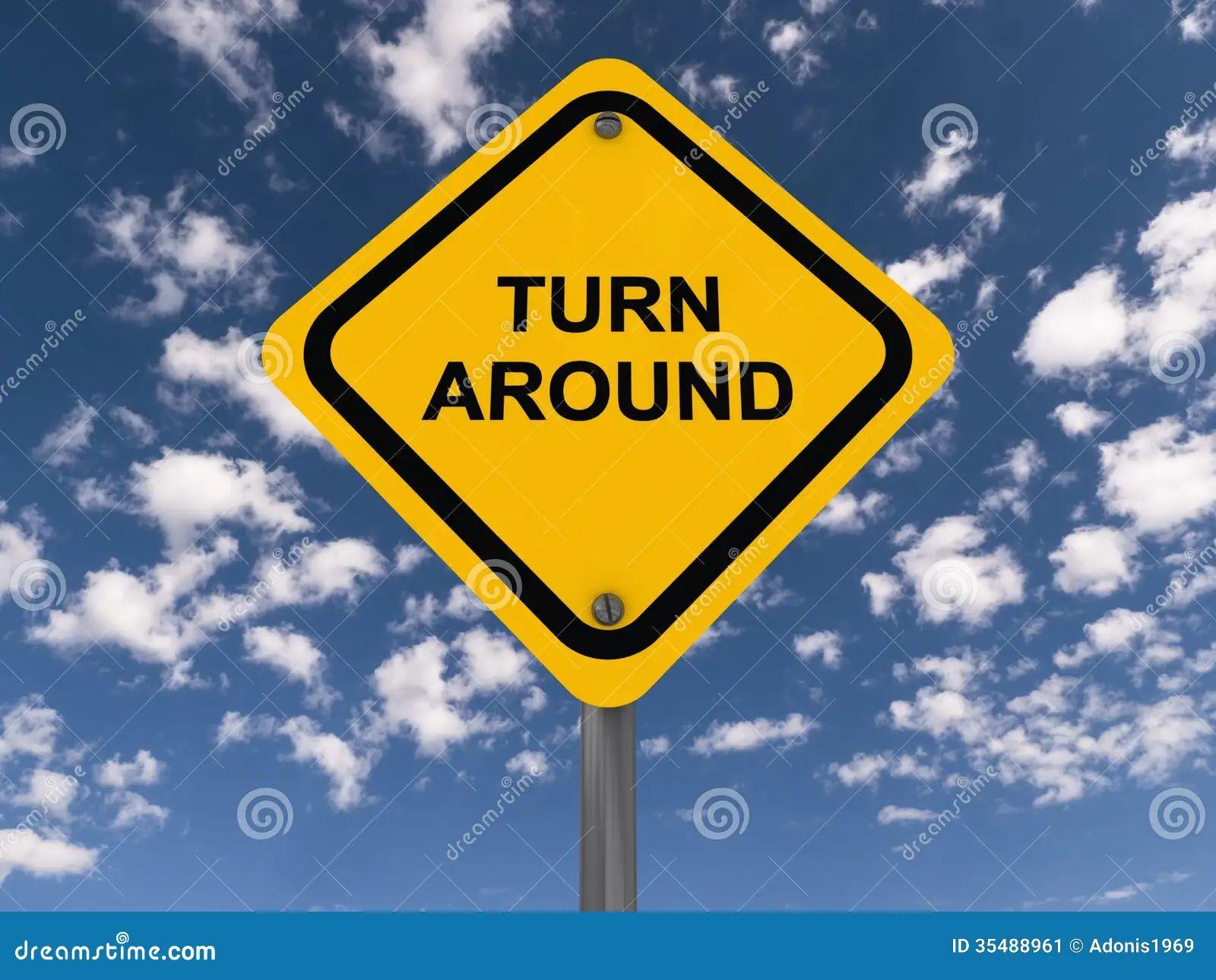 Around sign traffic turn