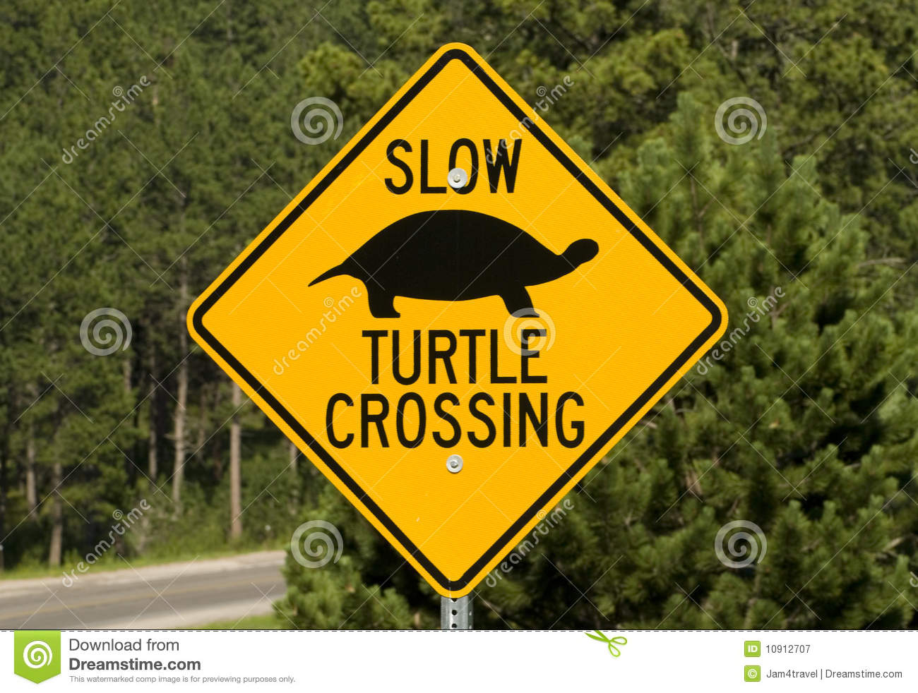 Road Crossing Clipart Turtle Road Crossing Sign Royalty Free Stock Photography