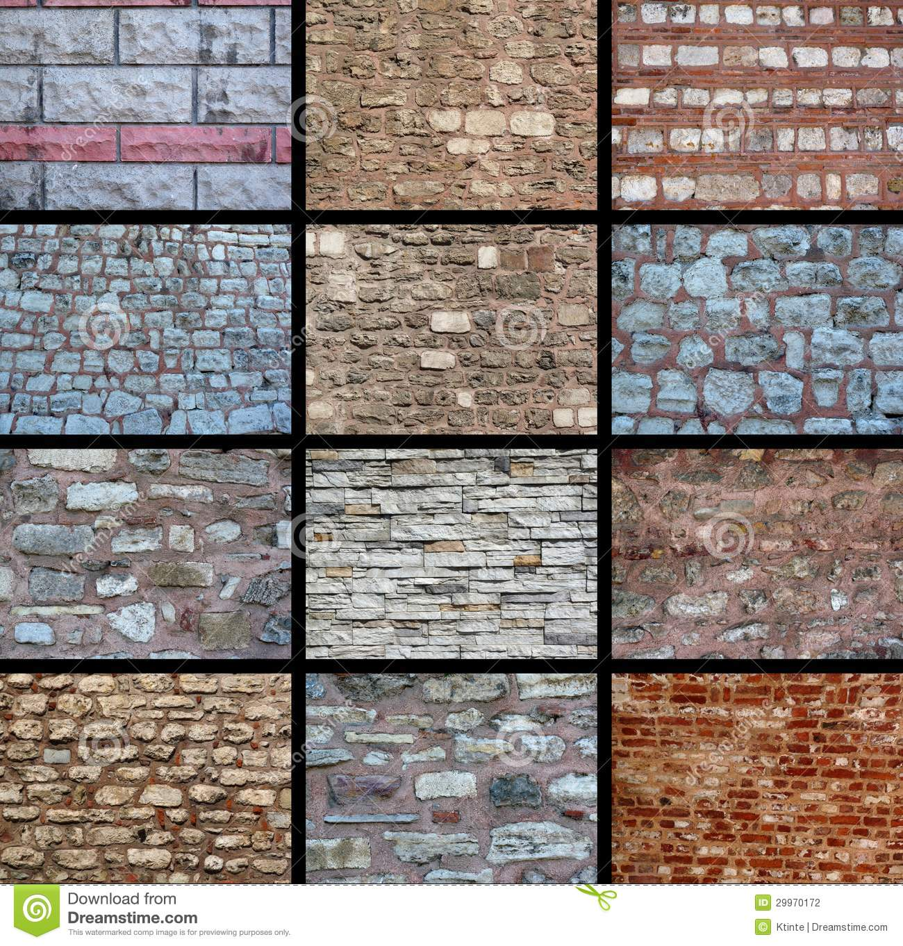 Different Wall Textures A Variety Of Wall Textures Stock Photography Image 29970172