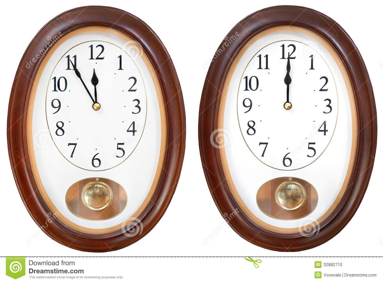 Oval Clock Face Twelve O Clock On Oval Dial Clock Stock Photo Image Of Face