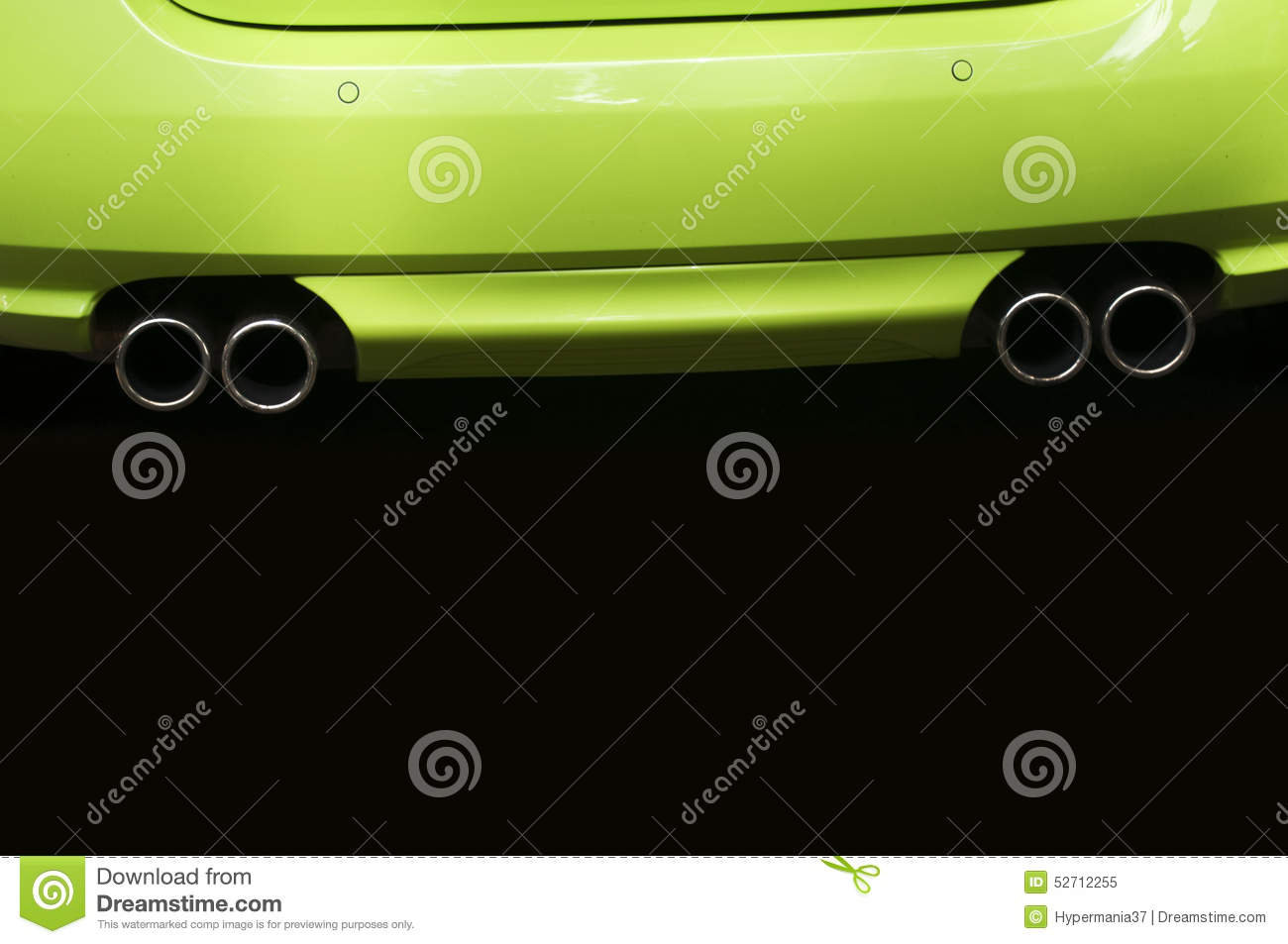 Twin Exhaust Pipes Stock Photo