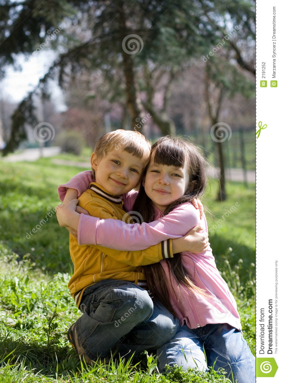 Stock Image Dreamstime Two Children Hugging Stock Photography Image 2191252