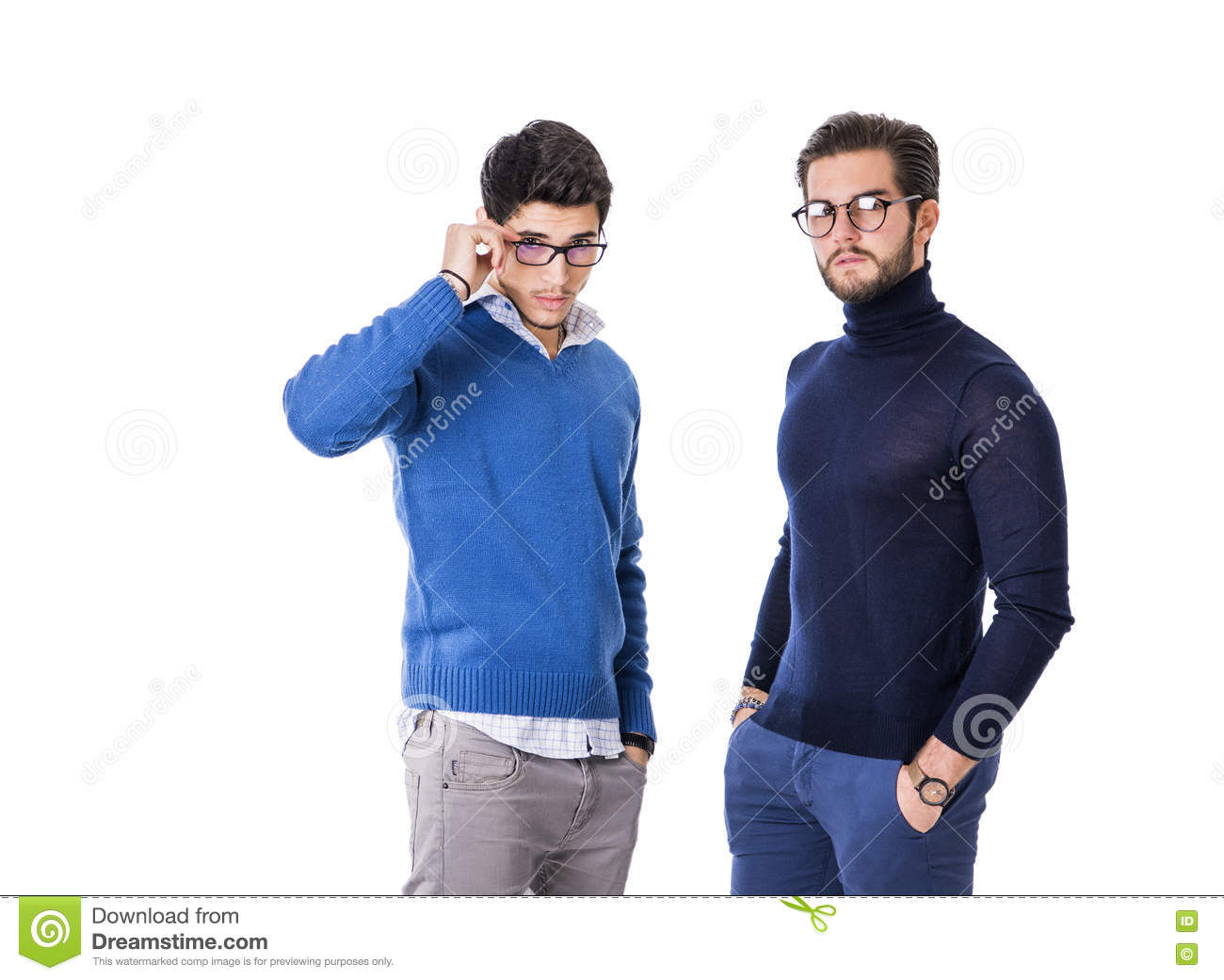 Stylish Clothes Two Good Looking Men In Stylish Clothes Stock Image Image Of