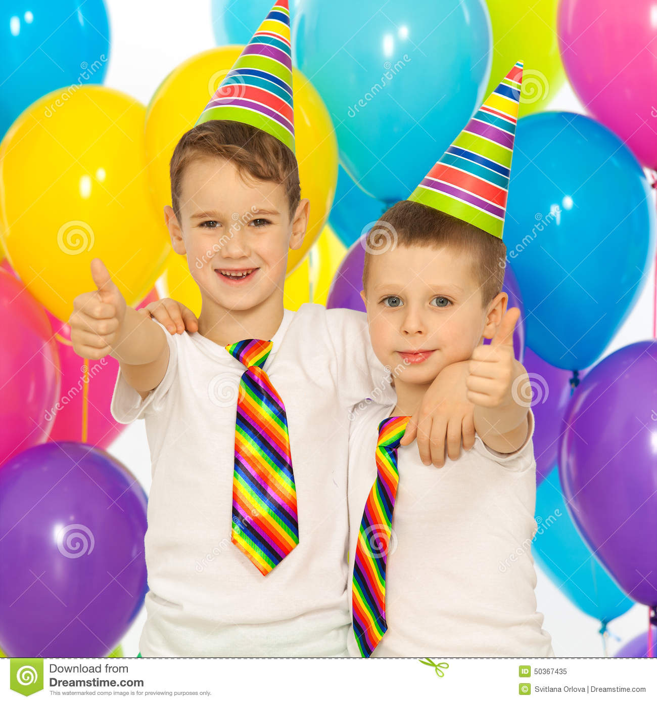 Little Kid Birthday Party Two Little Boys At Birthday Party Stock Image Image Of Caucasian