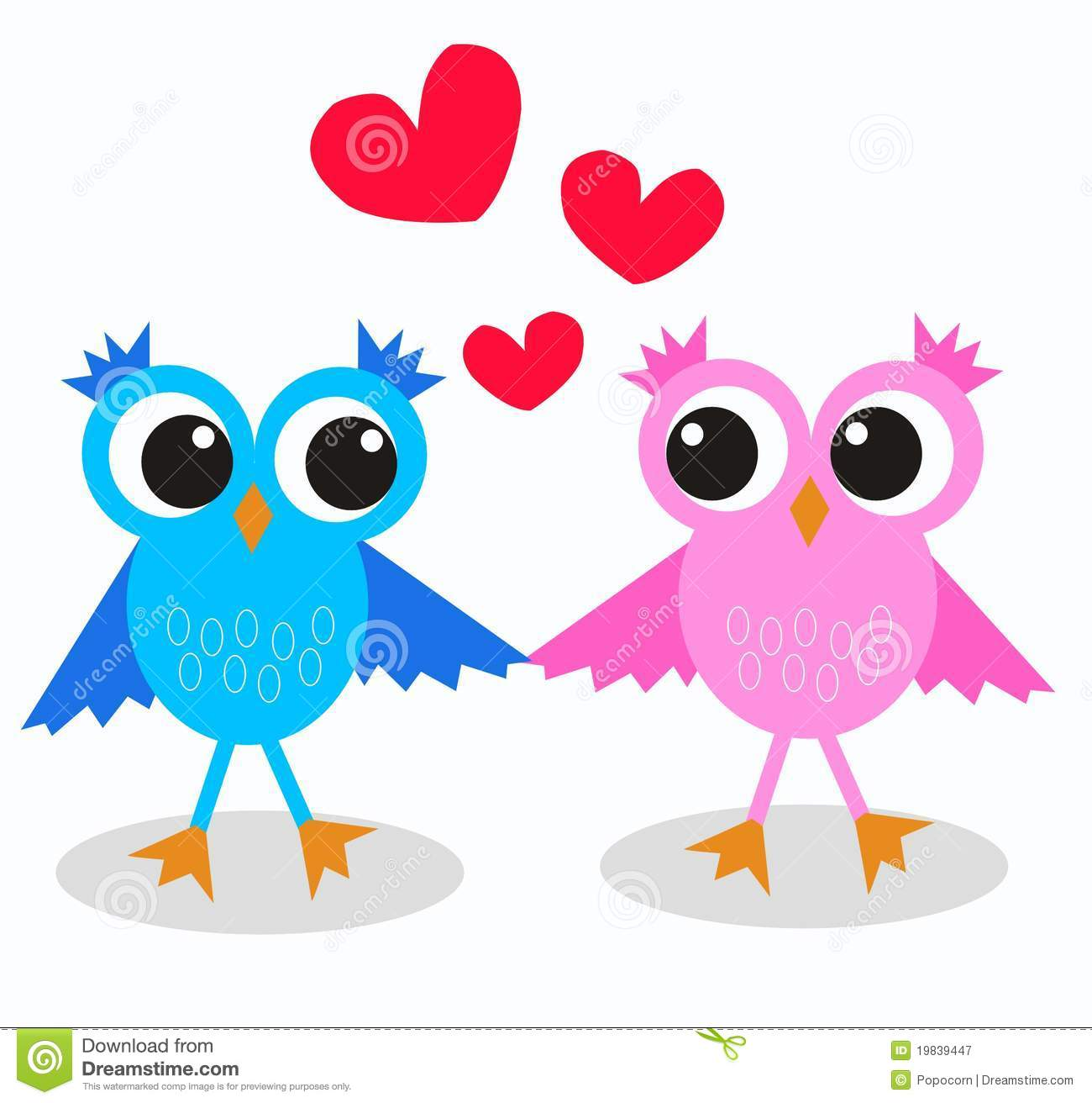 Cute Owl Cartoon Wallpaper Two Owls In Love Royalty Free Stock Photography Image