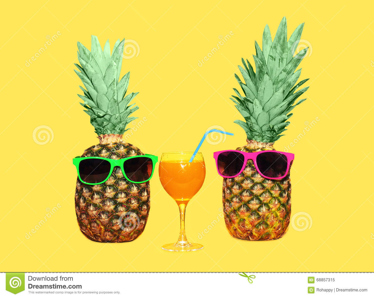 Pineapple With Sunglasses Tumblr Two Pineapple With Sunglasses And Glass Fruit Juice On