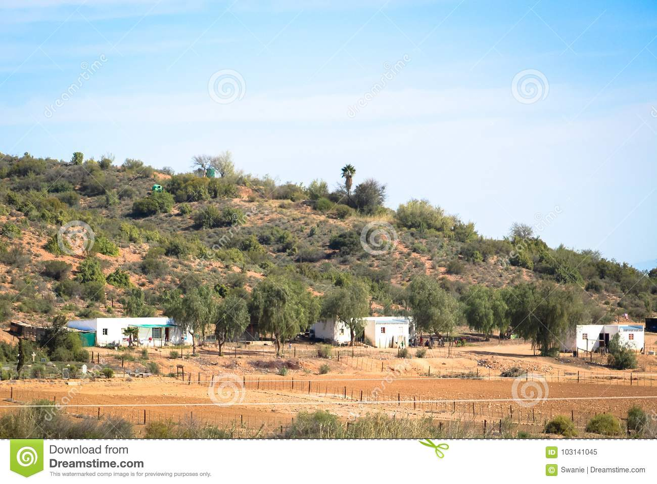 Accommodations South Africa Typical Farm Labourers Accommodation In South Africa Stock Image
