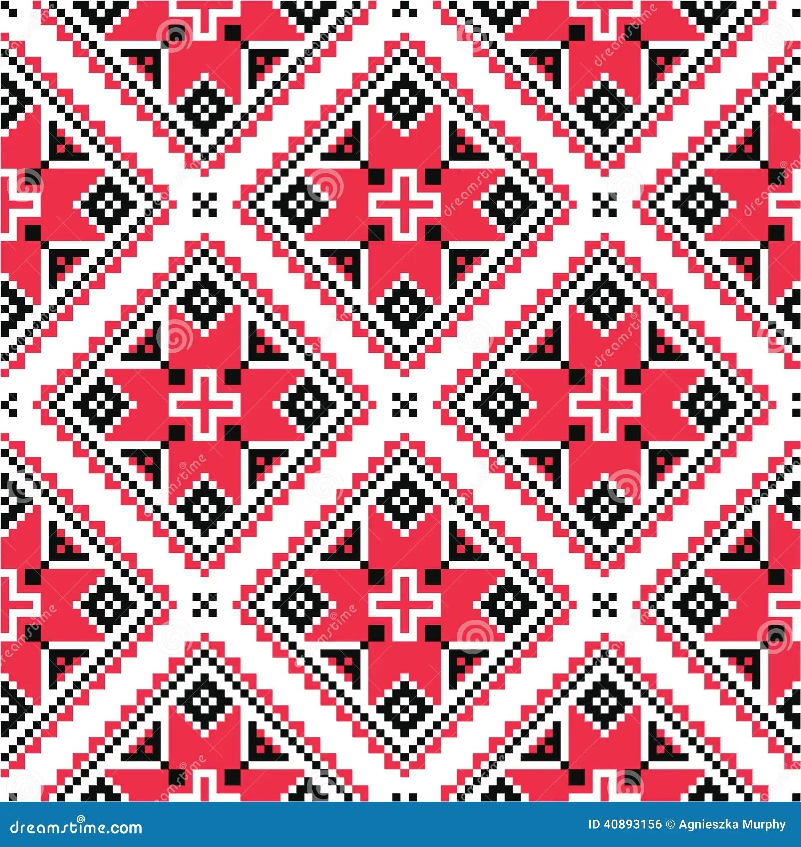 Tribal Pattern Wallpaper Hd Ukrainian Traditional Folk Knitted Red Embroidery Pattern