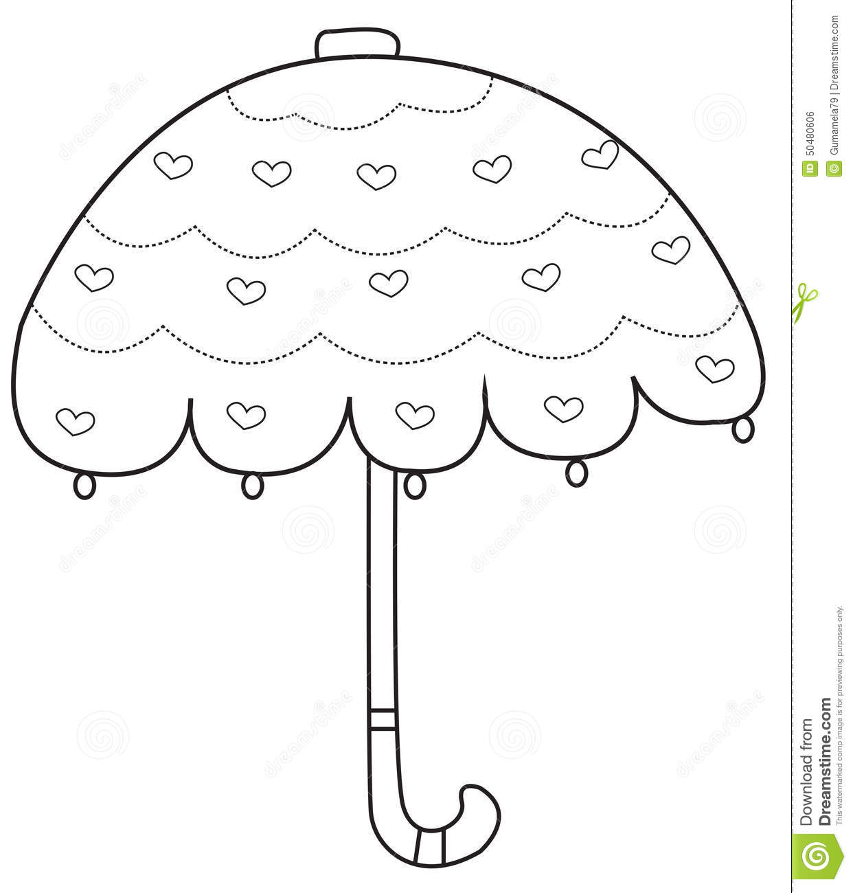coloring kids page umbrella download