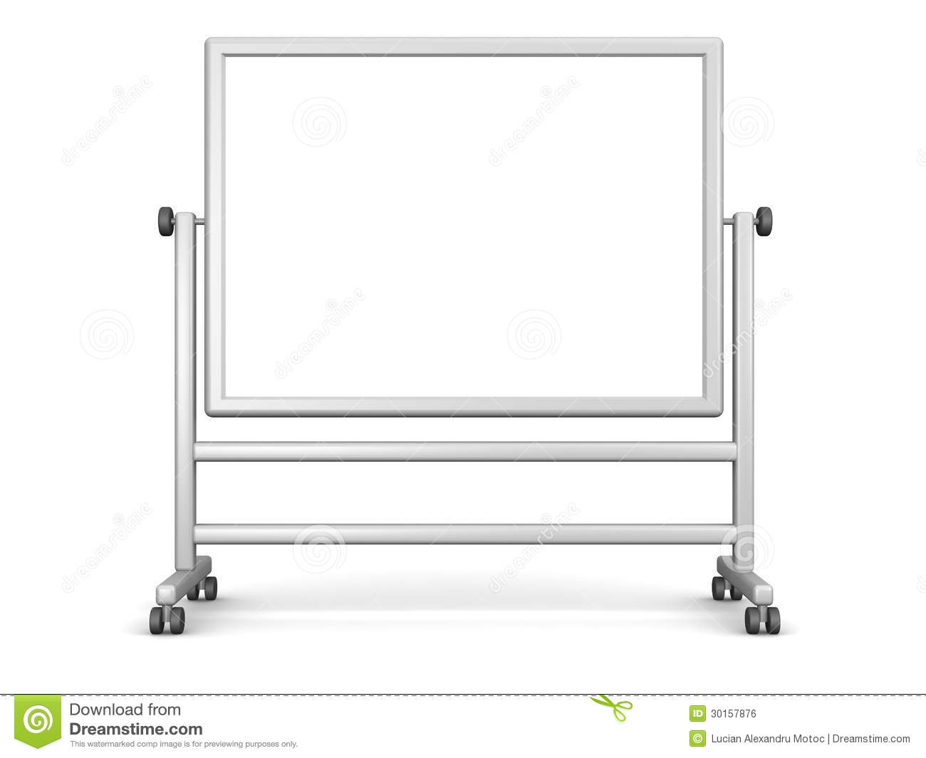Tableau Blanc Mobile Grand Tableau Blanc Illustration Stock Illustration Du Affaires