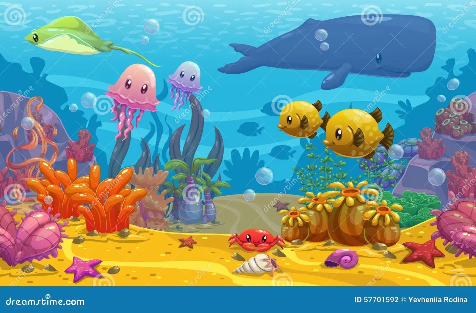 Undersea Landscape Stock Illustration Illustration Of
