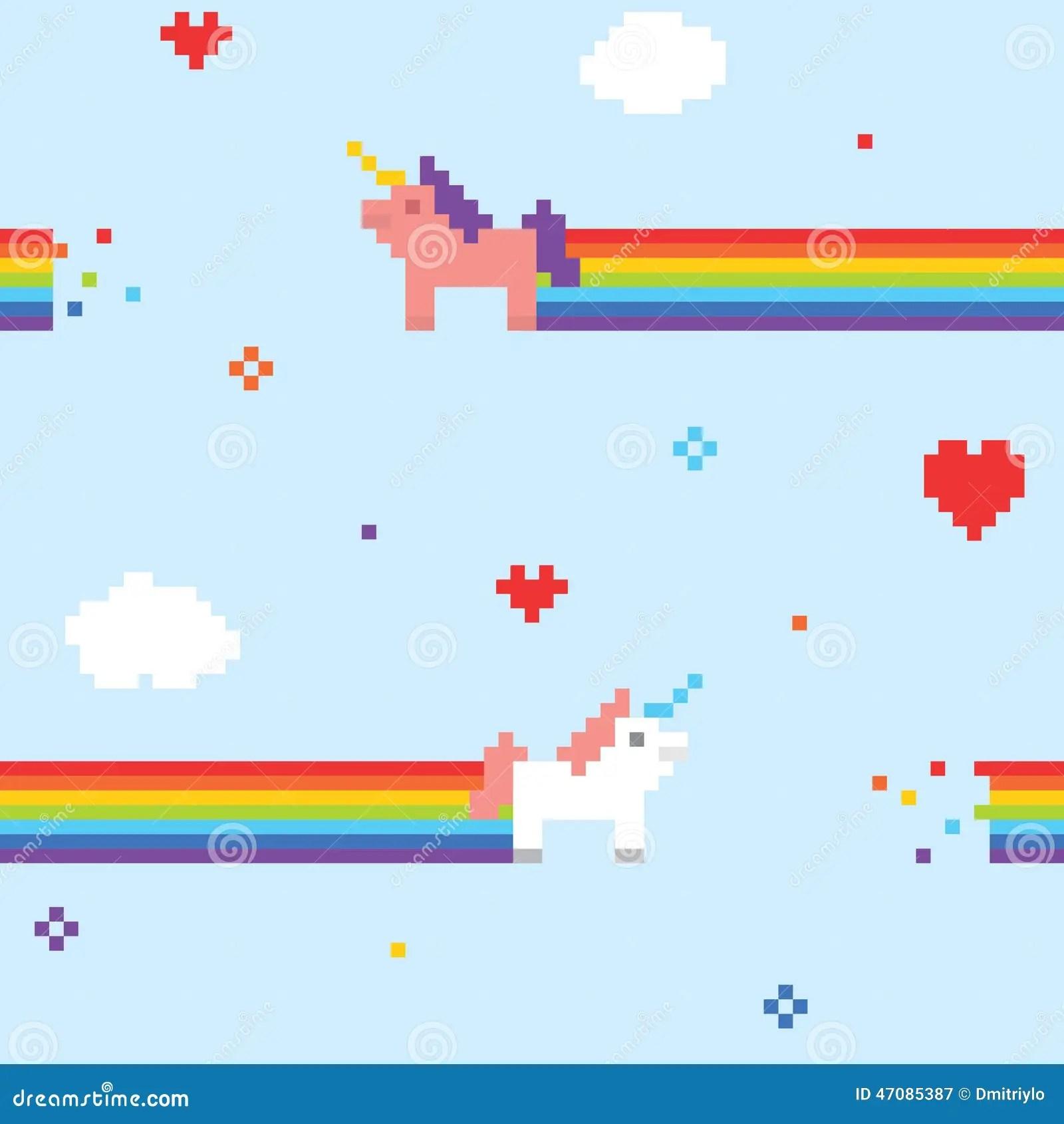 Cute Cartoon Fairy Wallpaper Unicorn Pattern Stock Vector Illustration Of Cute