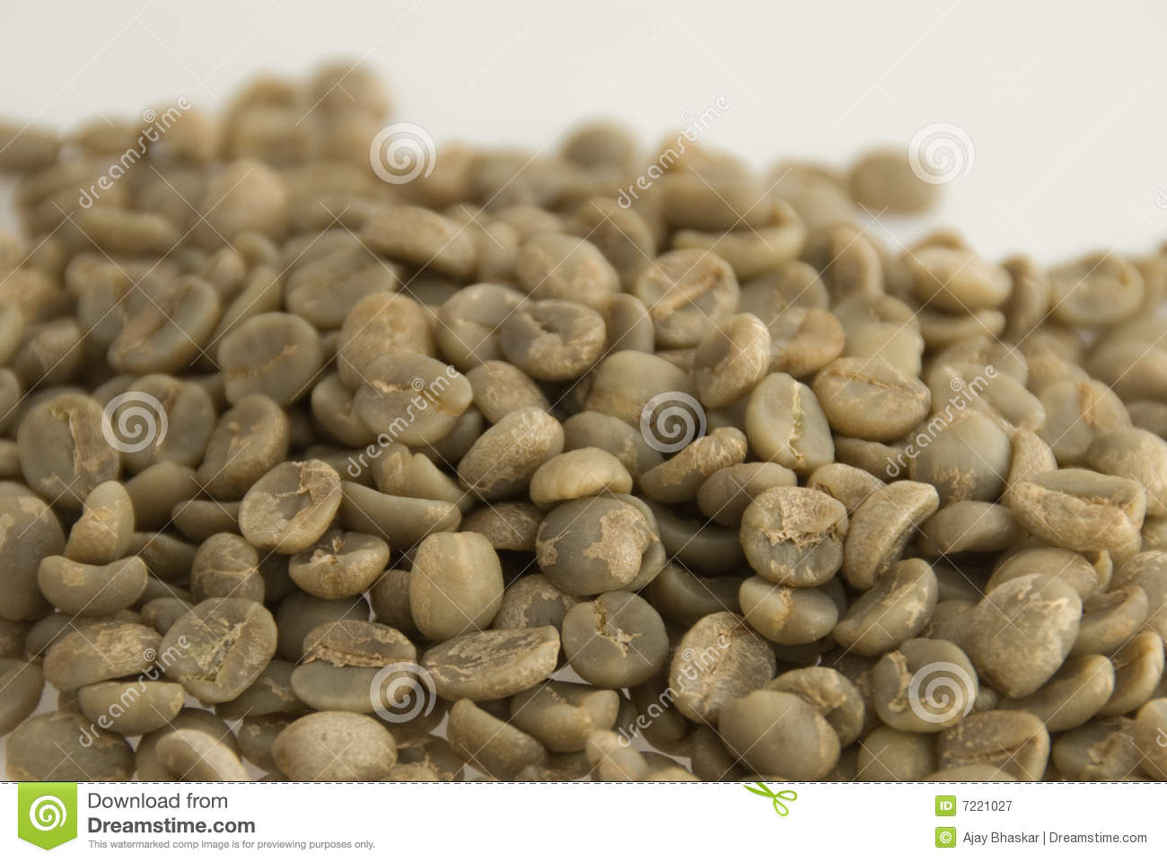 Unroasted Organic Arabica Coffee Beans Unroasted Coffee Beans Royalty Free Stock Photography