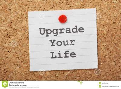 Upgrade Your Life Stock Photo - Image: 40315816