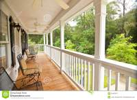 Upscale front porch stock image. Image of second, house